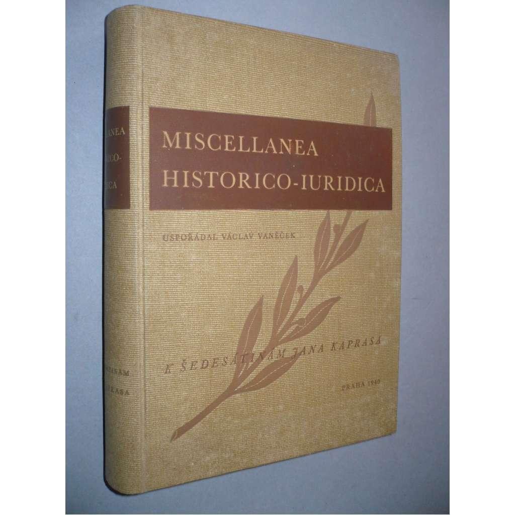 Miscellanea historico-iuridica