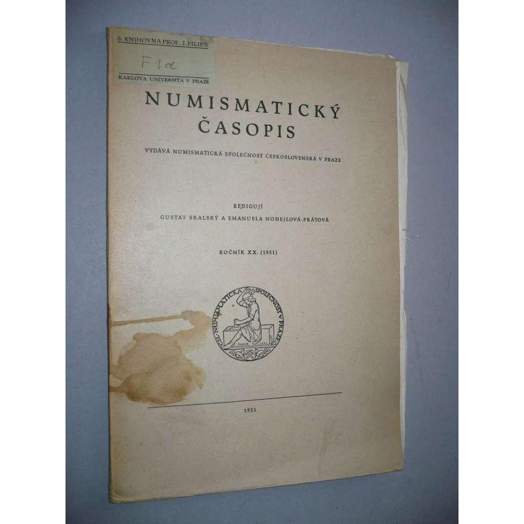 Numismatický časopis, ročník XX.(1951)