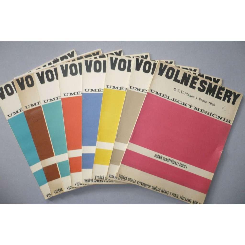 Volné směry, umělecký měsíčník, ročník XXVI (26.) - 1928 - komplet - sešity s obálkami