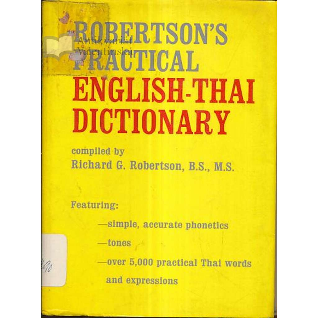 Robertson´s Practical English -Thai Dictionary