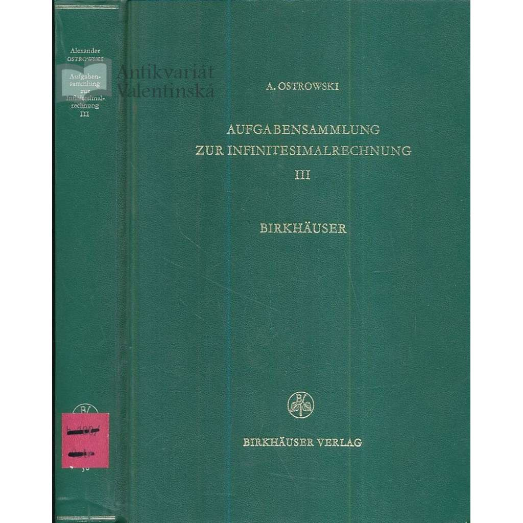 Aufgabensammlung zur Infinitesimalerechnung, III.