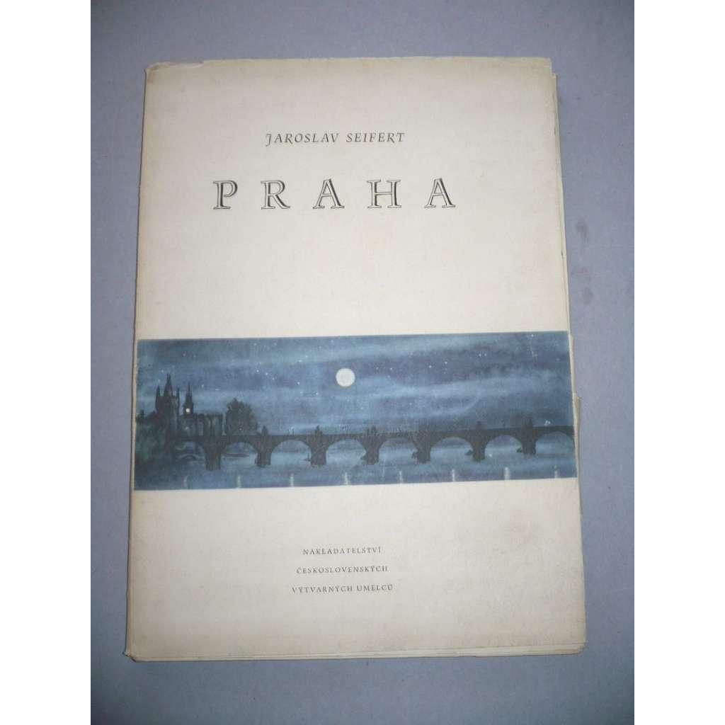 Praha. Výbor veršů z let 1929 - 1947 (lept Václav Sivko - 1958)