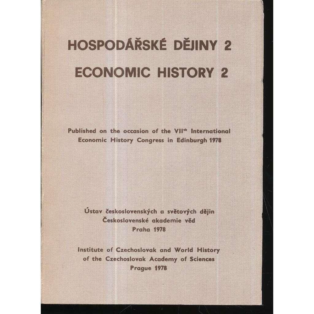 Hospodářské dějiny (Economic History), sv. 2. (1978)