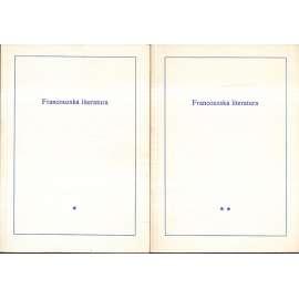Francouzská literatura, 2 svazky