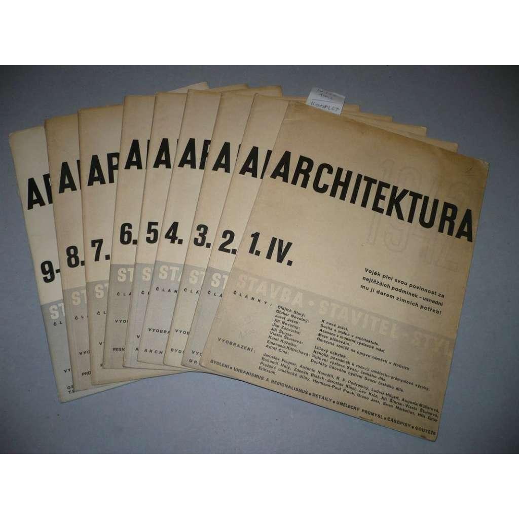 Architektura, komplet r.1942 / IV