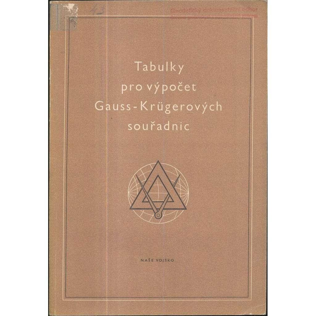 Tabulky pro výpočet Gauss-Krügerových souřadnic