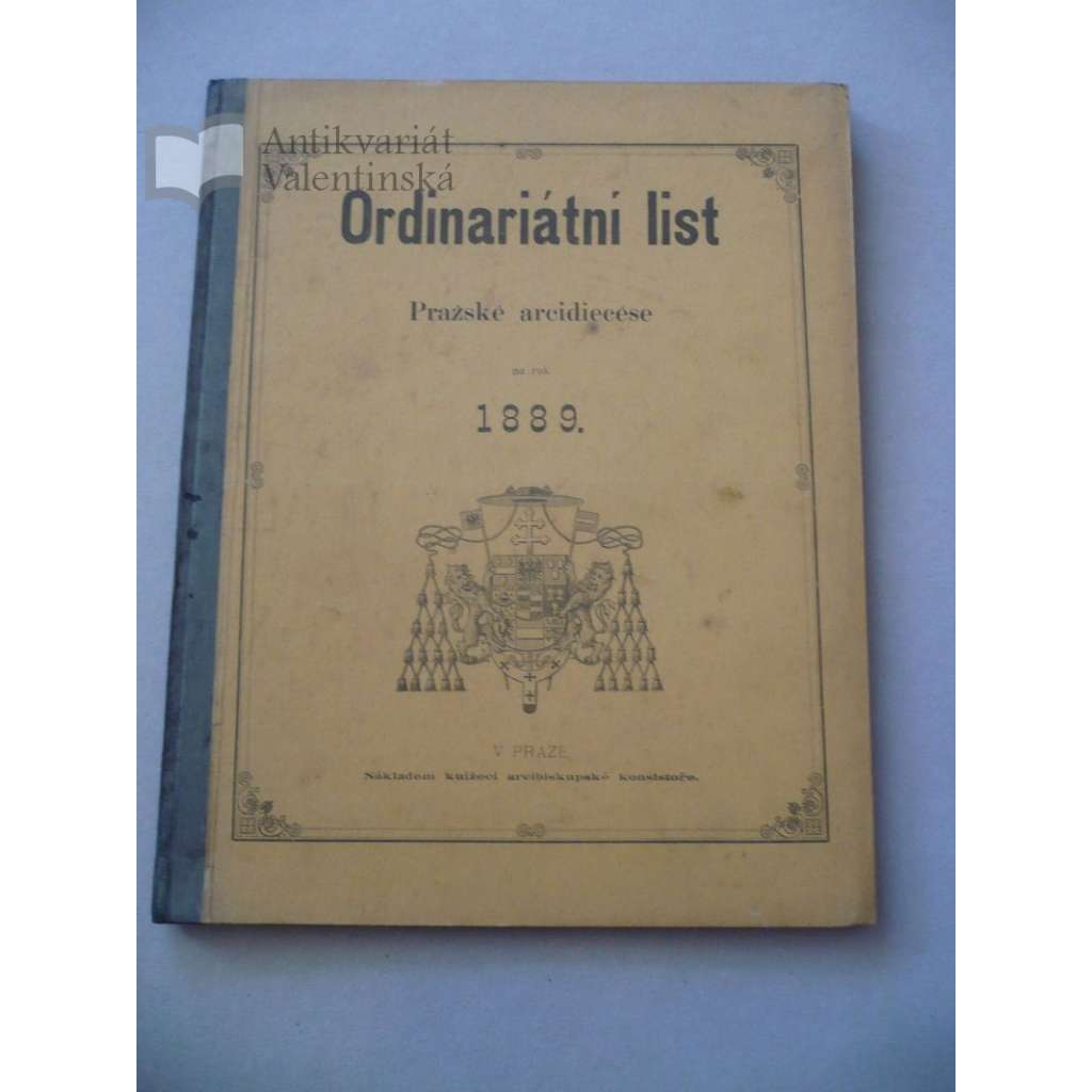 Ordinariátní list na rok 1889