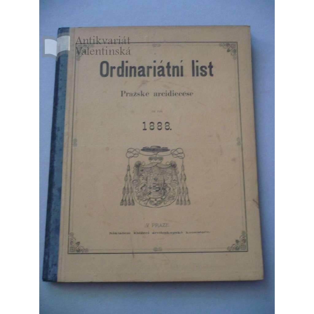 Ordinariátní list na rok 1888