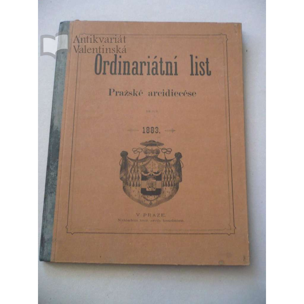 Ordinariátní list na rok 1883