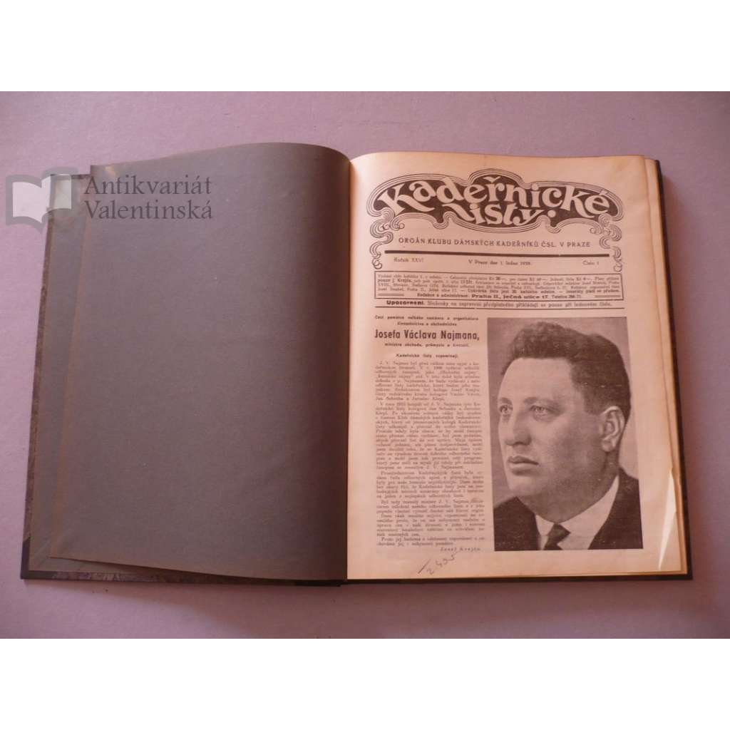 Kadeřnické listy, roč. XXVI. (1938) - (kadeřnictví, móda)