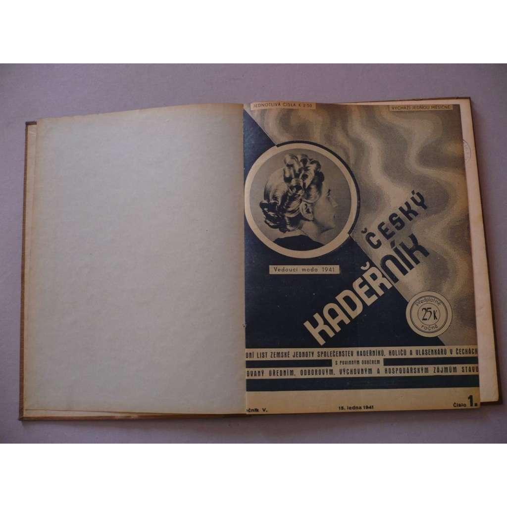 Český kadeřník, roč. V. (1941) - (kadeřnictví, móda)