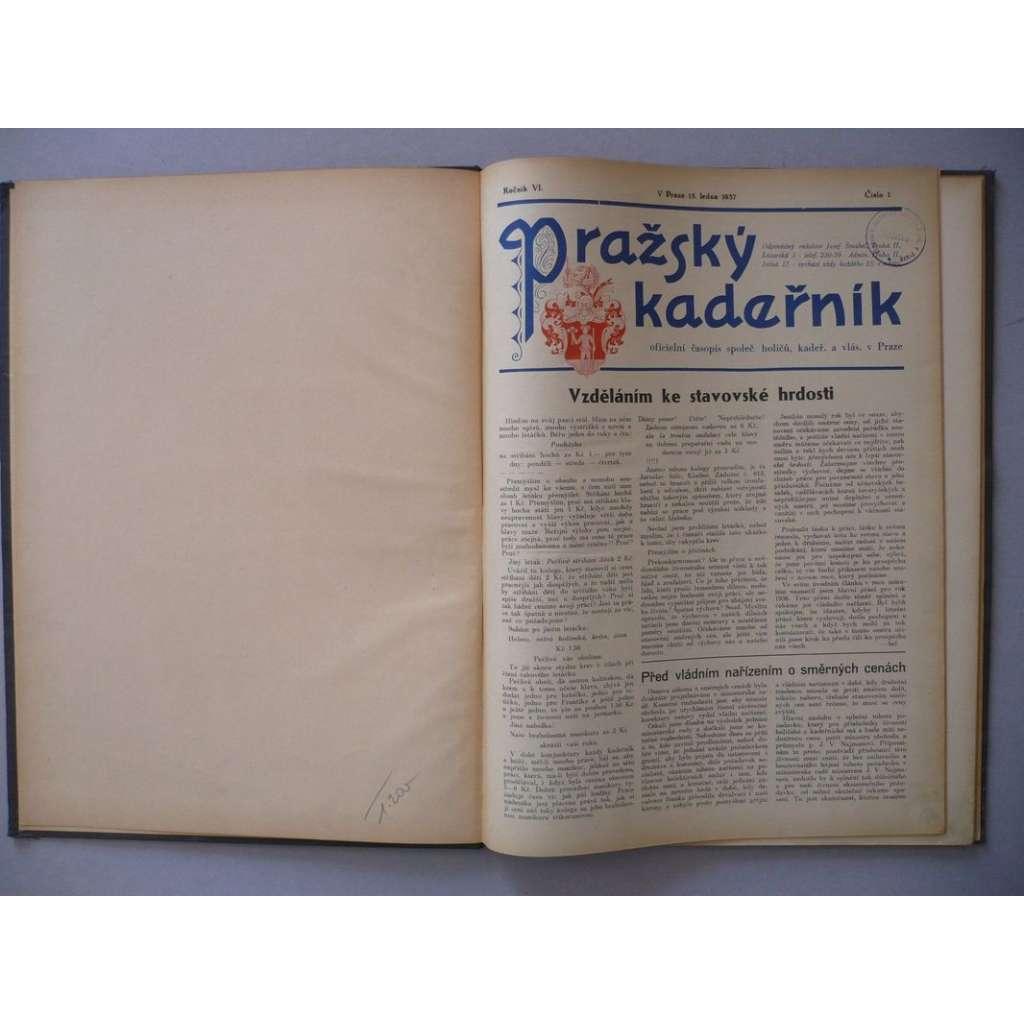 Pražský kadeřník, roč. VI.(1937) - (kadeřnictví, móda)