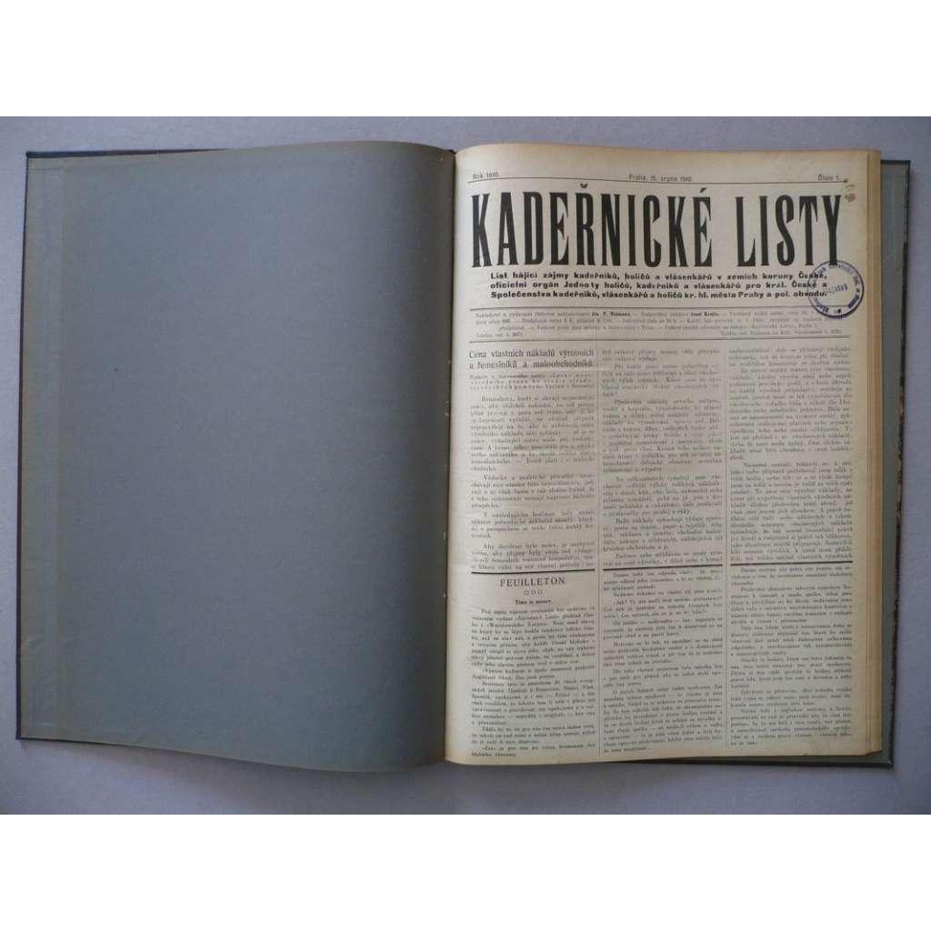 Kadeřnické listy, 1910-1911 (kadeřnictví, móda)