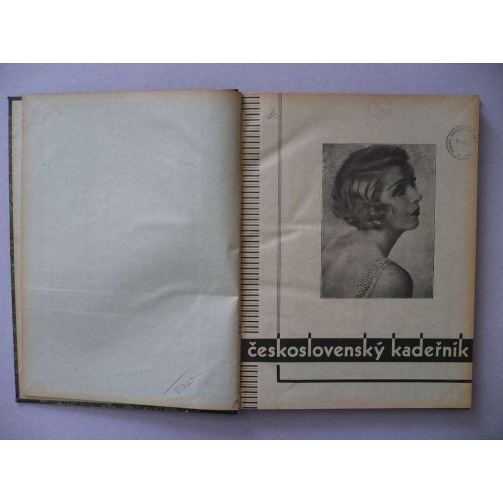 Československý kadeřník, roč. XI. (1934) - (kadeřnictví, móda)