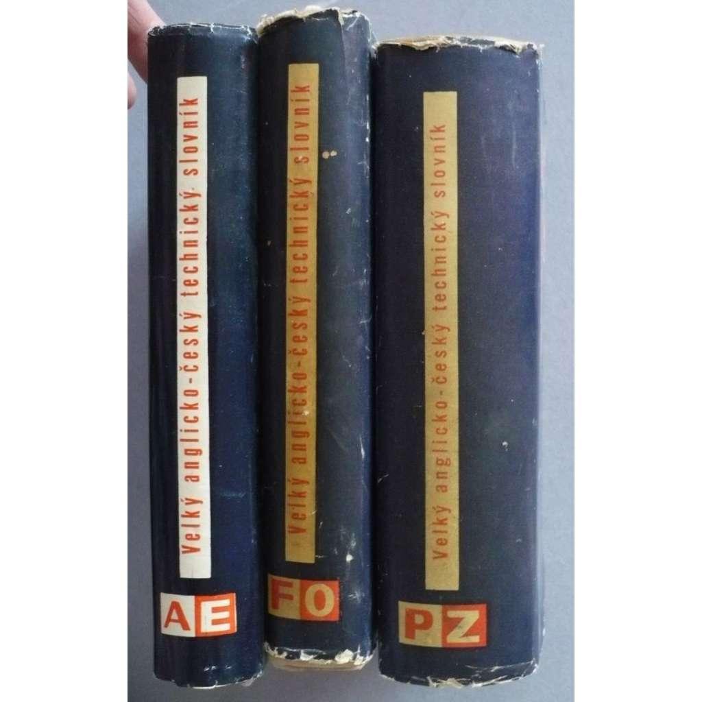 Velký anglicko-český technický slovník - 3 svazky