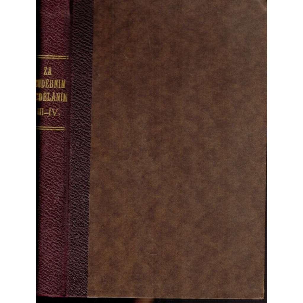 Za hudebním vzděláním, ročník III.1927/28 + IV. 1929/30