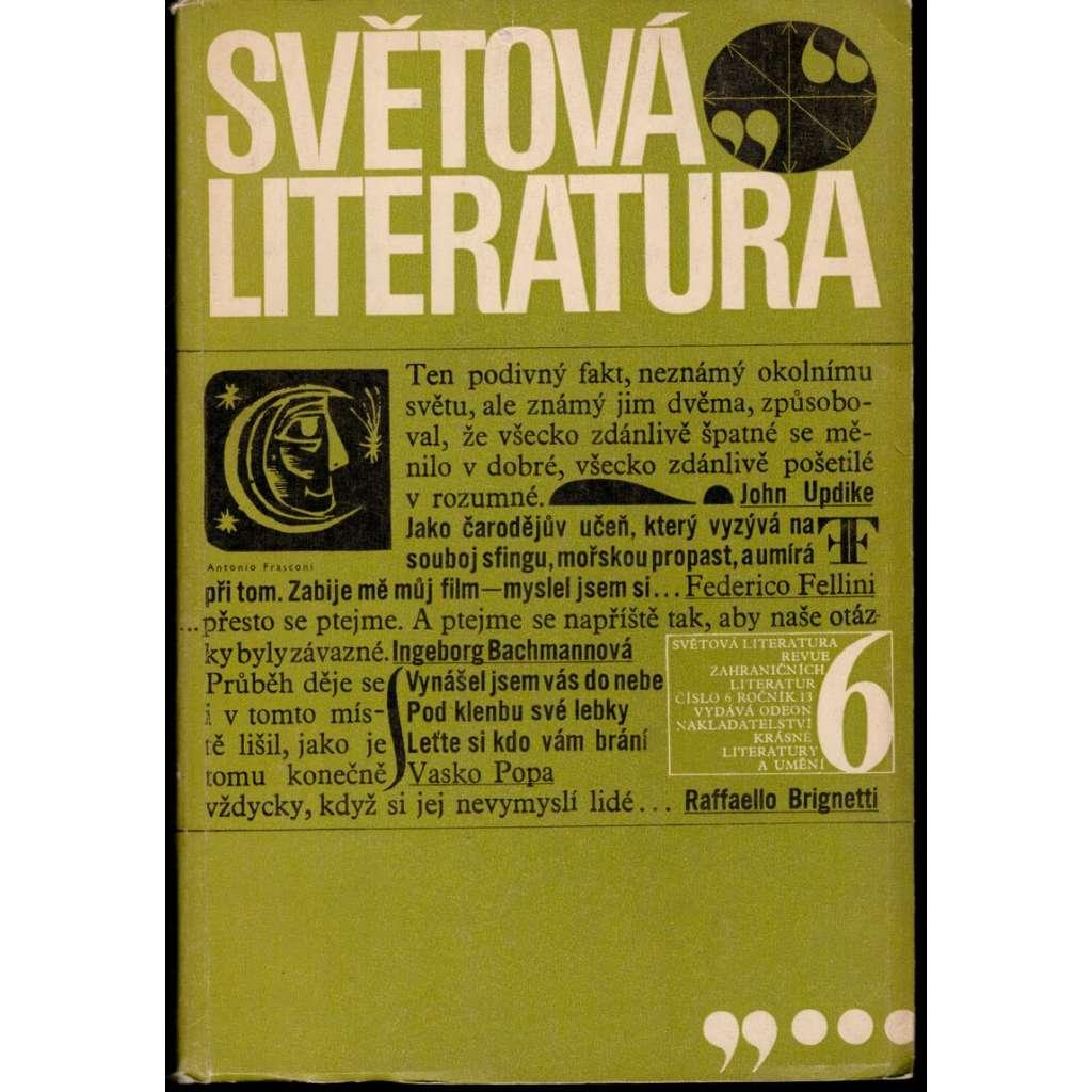 Světová literatura 1968/6, roč.13, revue