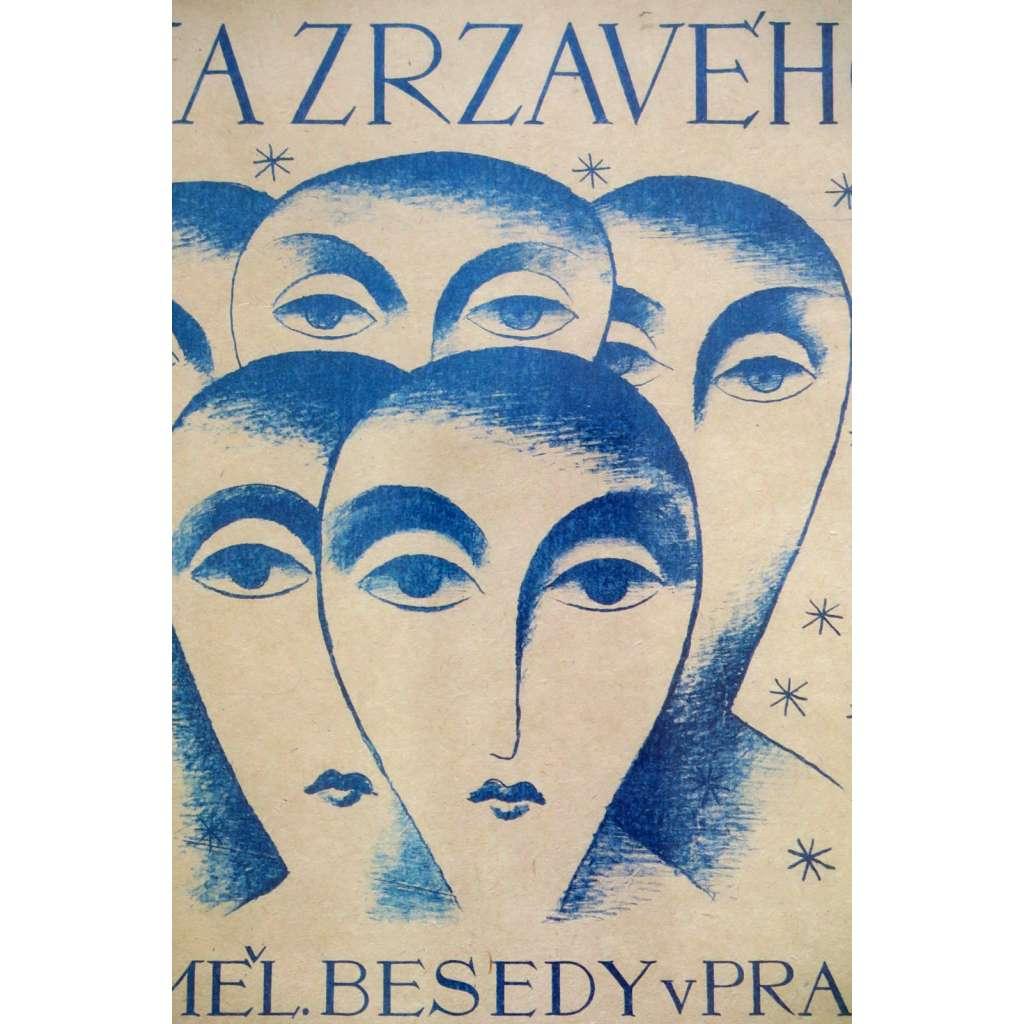 Plakát k I. výstavě J. Zrzavého