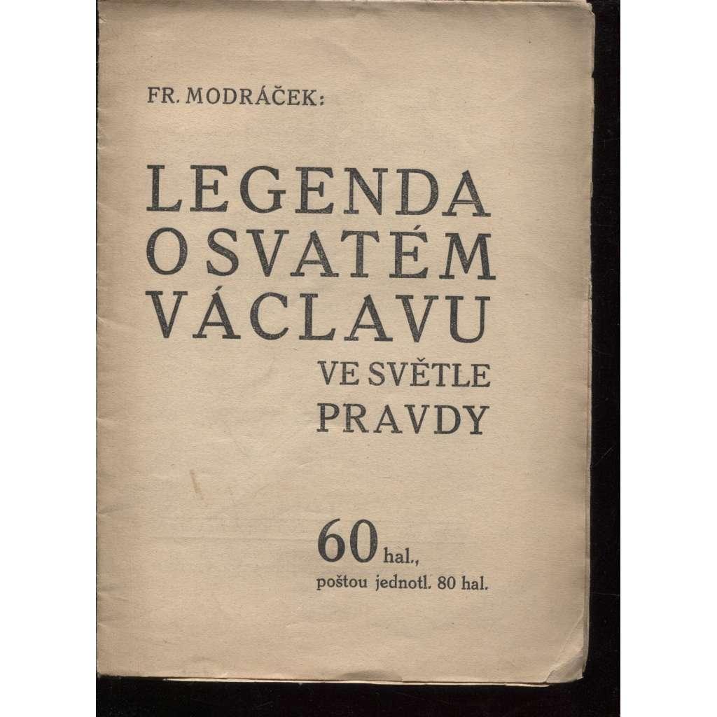 Legenda o svatém Václavu ve světle pravdy