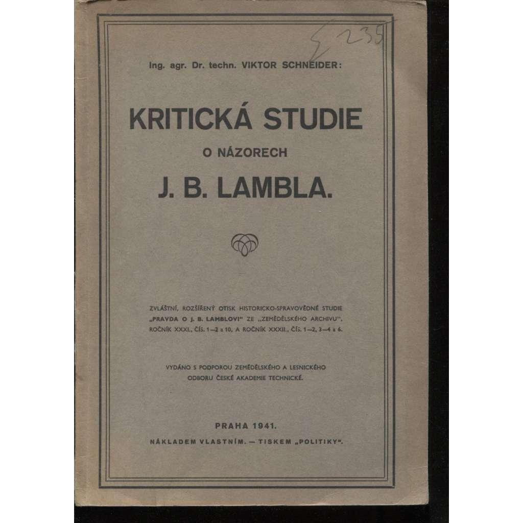 Kritická studie o názorech J. B. Lambla