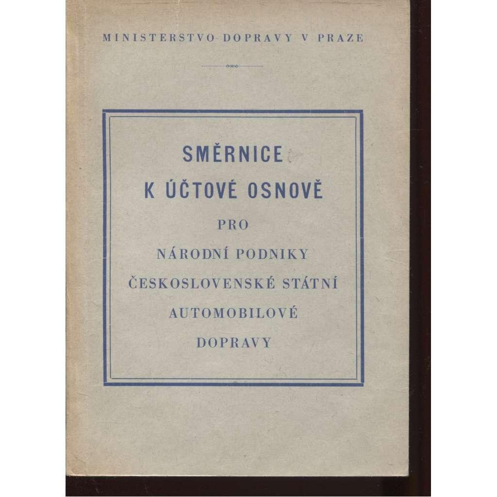 Směrnice k účtové osnově pro národní podniky československé státní automobilové dopravy