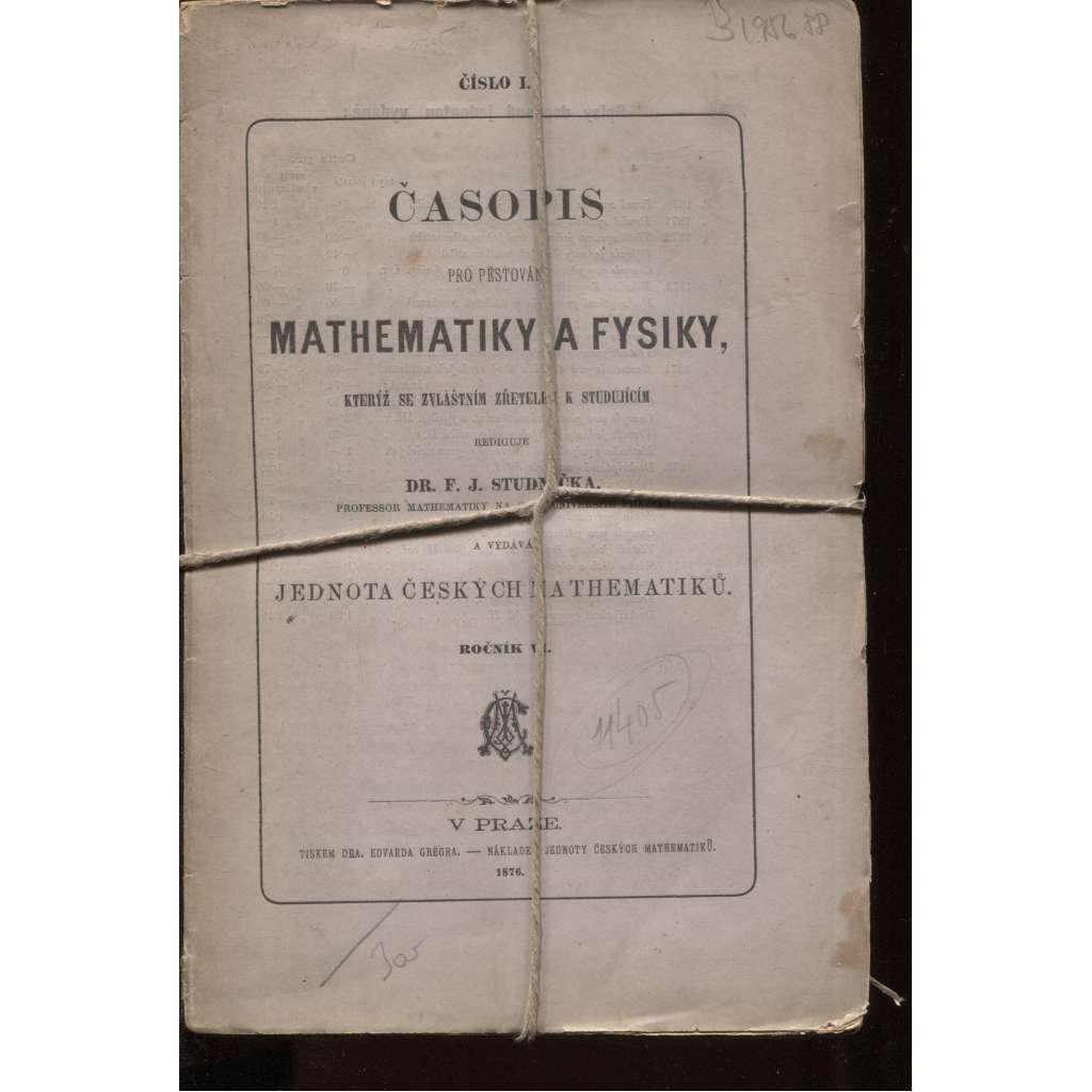 Časopis mathematiky a fysiky (matematika a fyzika) 1876