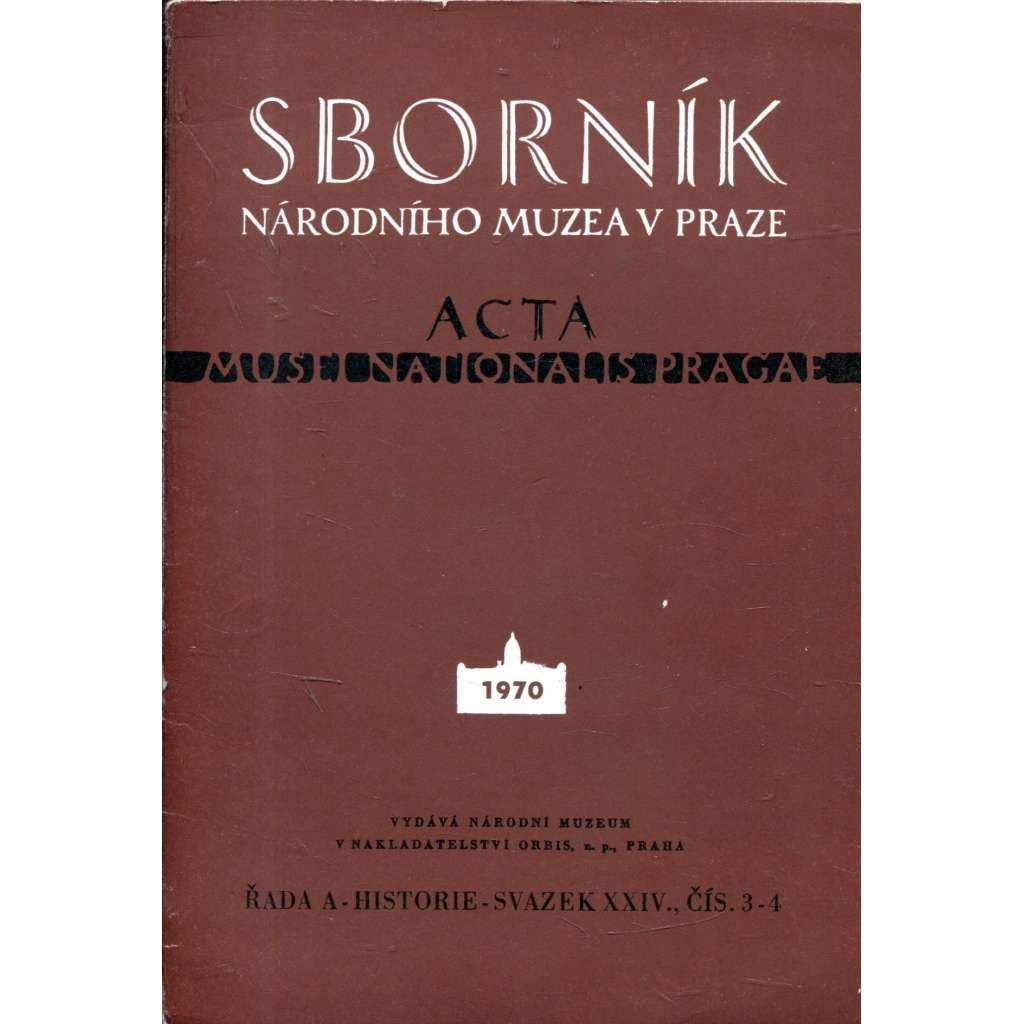 Sborník Národního muzea v Praze, 3/4 1970
