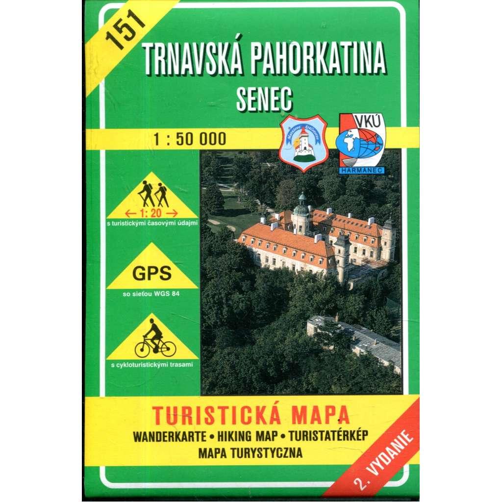 Turistická mapa : Trnavská pahorkatina / Senec