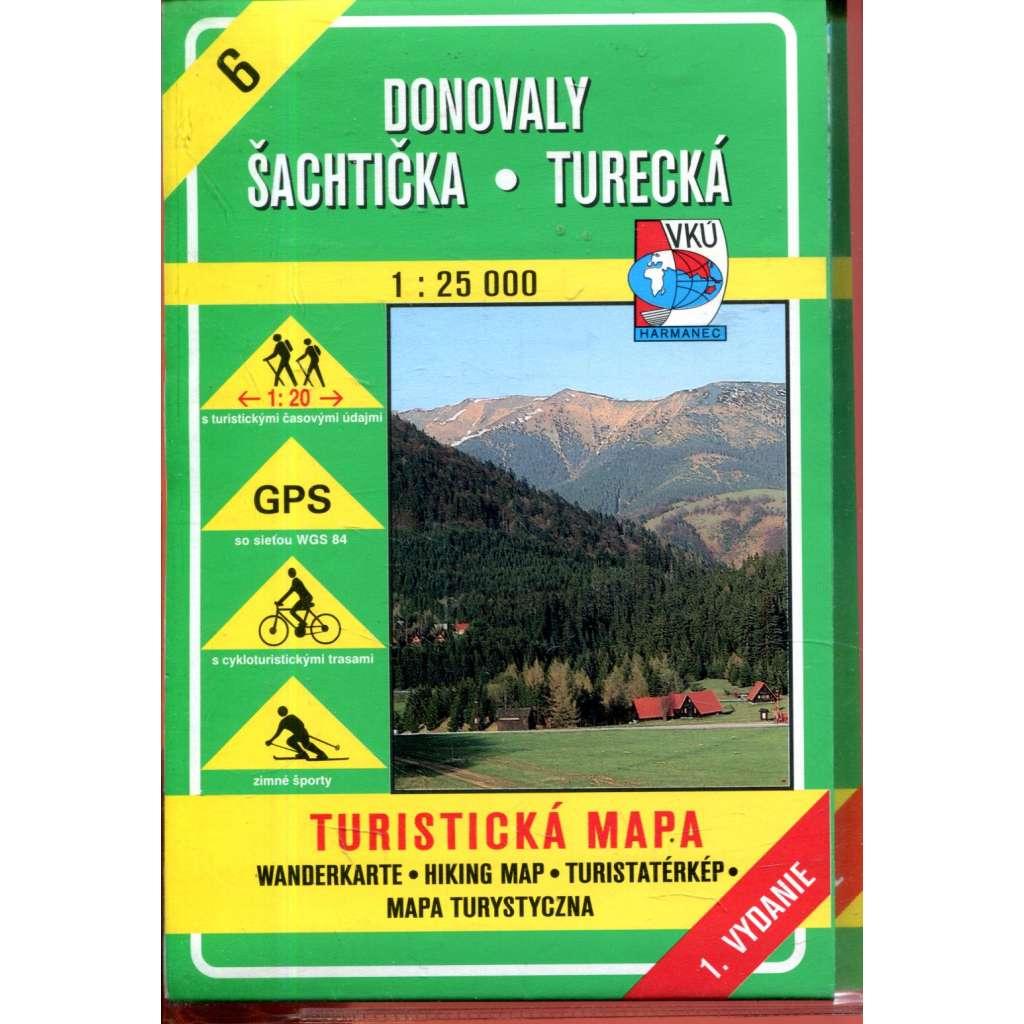 Turistická mapa : Donovaly * Šachtička * Turecká