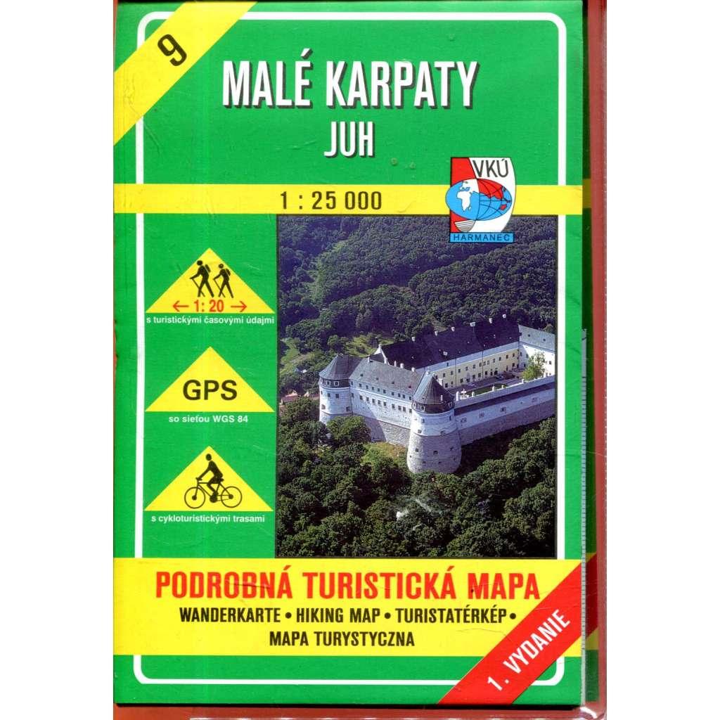 Turistická mapa : Malé Karpaty - juh