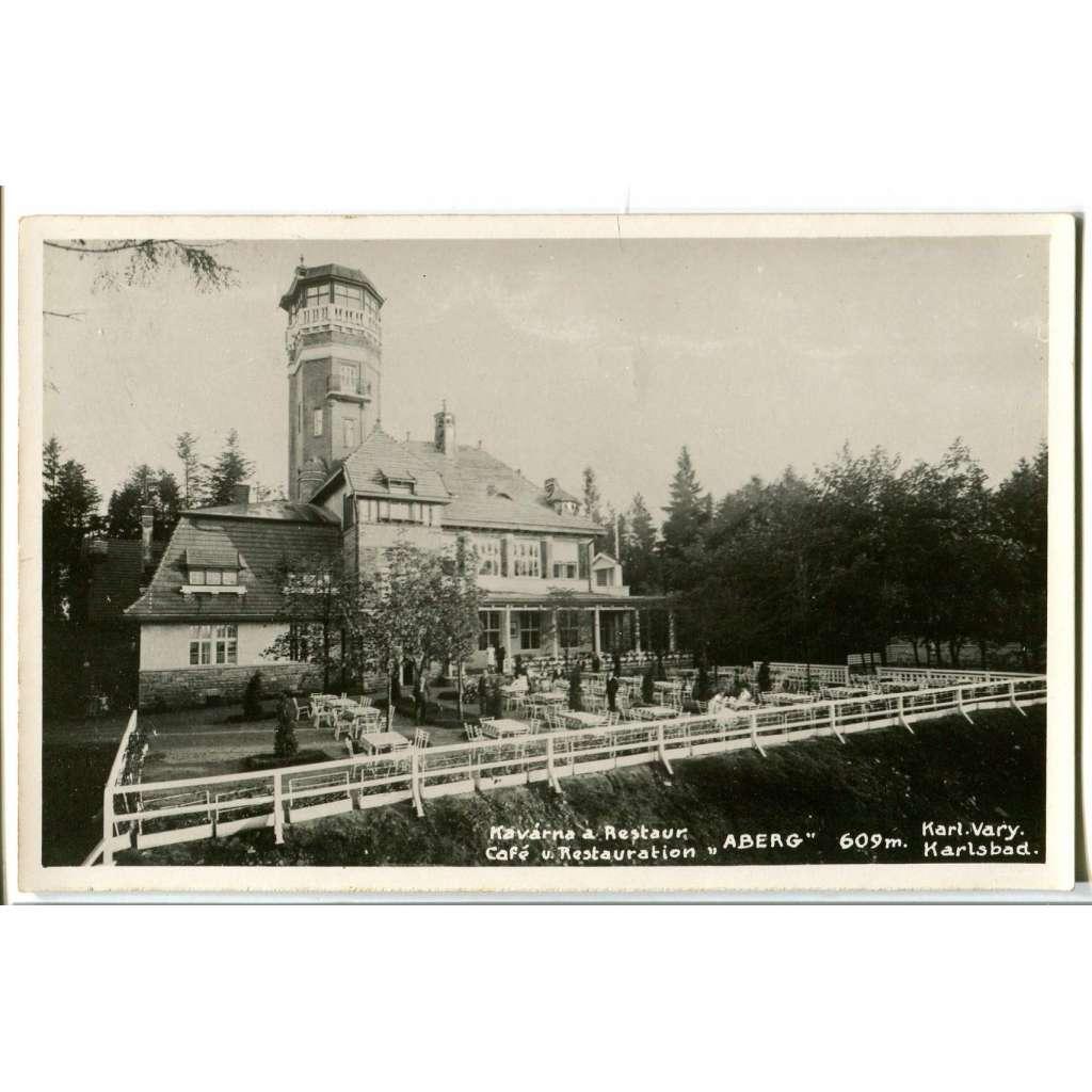 Karlovy Vary, rozhledna Aberg, restaurace