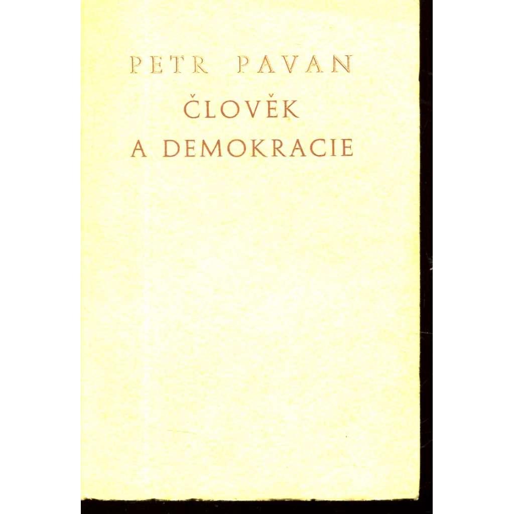Člověk a demokracie (exilové vydání)