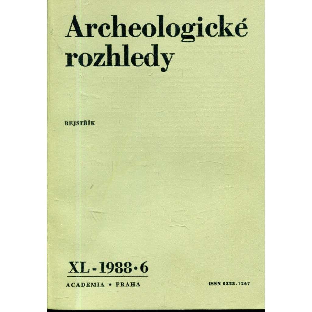 Archeologické rozhledy XL - 1988, č. 6.