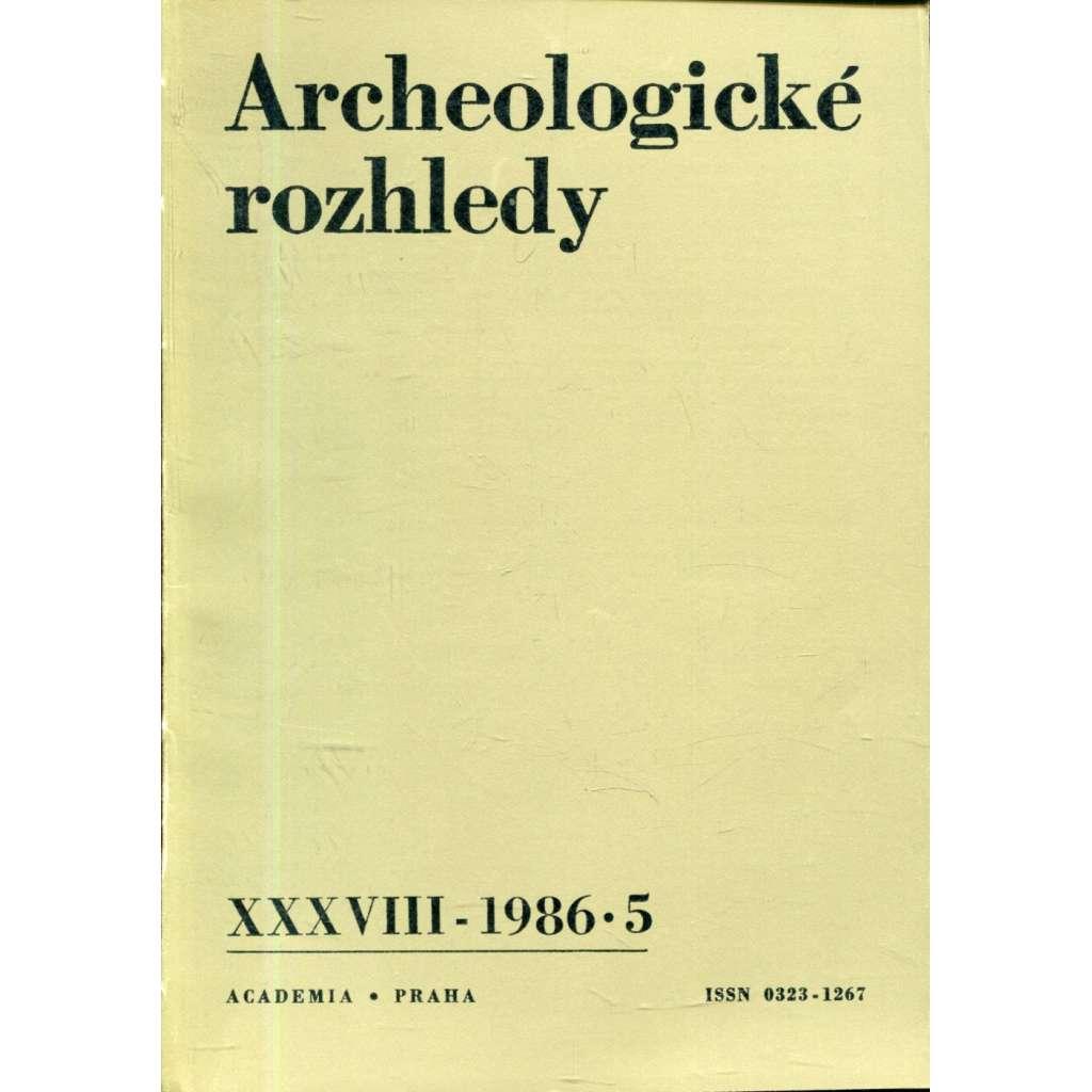 Archeologické rozhledy, roč. XXVIII - 1986, sešit 5