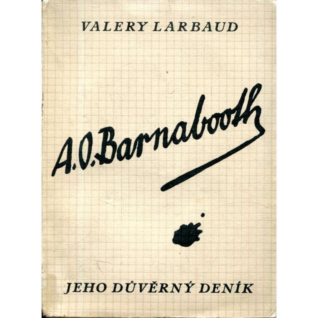 A. O. Barnabooth. Jeho důvěrný deník