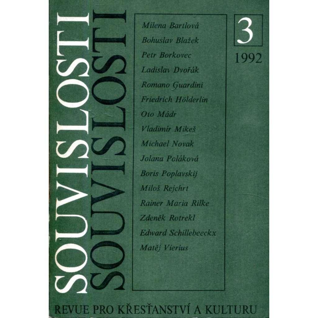 Revue Souvislosti, 3/1992