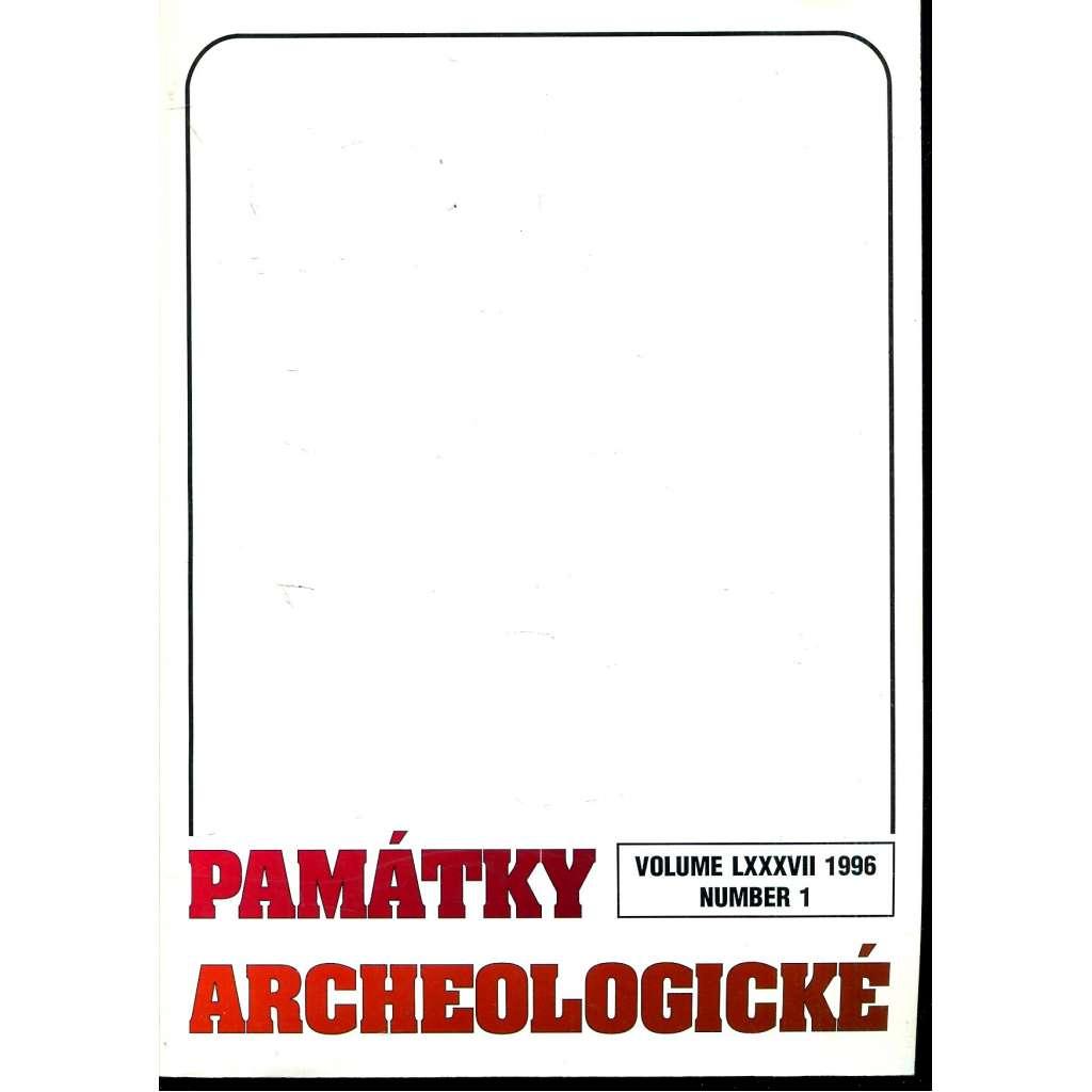Památky archeologické 1996/1
