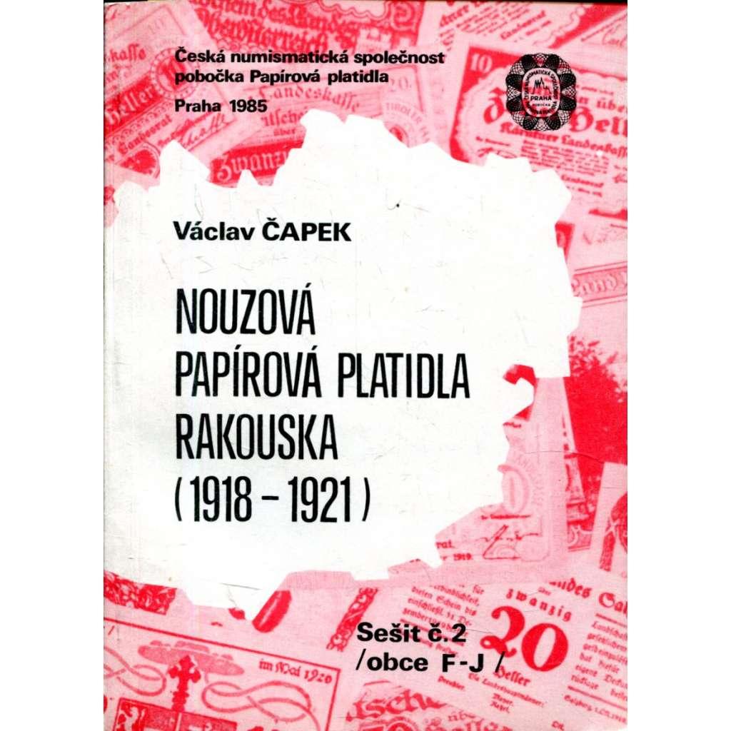 Nouzová papírová platidla Rakouska (1918-1921) - 2