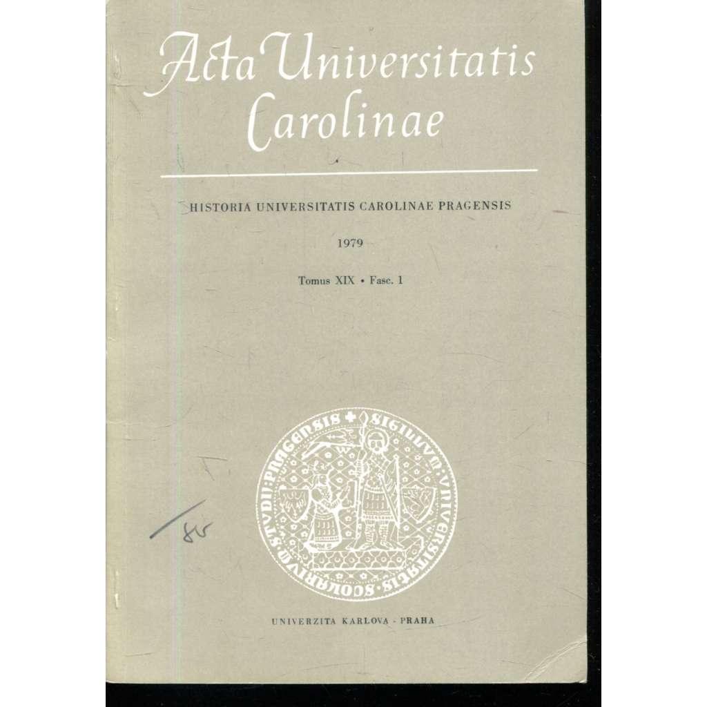 Historia Universitatis Carolinae Pragensis, XIX/1, 1979
