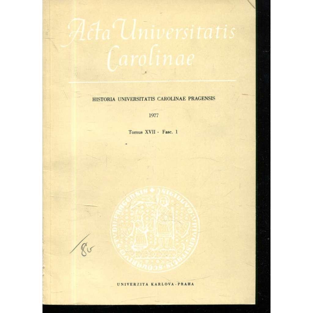 Historia Universitatis Carolinae Pragensis, XVII/1, 1977