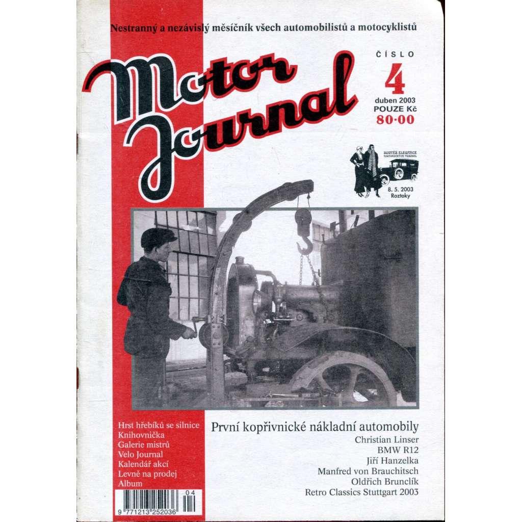 Motor Journal, č. 4/2003 duben