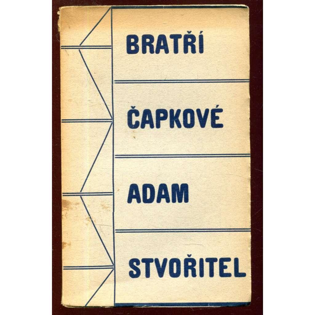 Adam stvořitel - obálka Josef Čapek