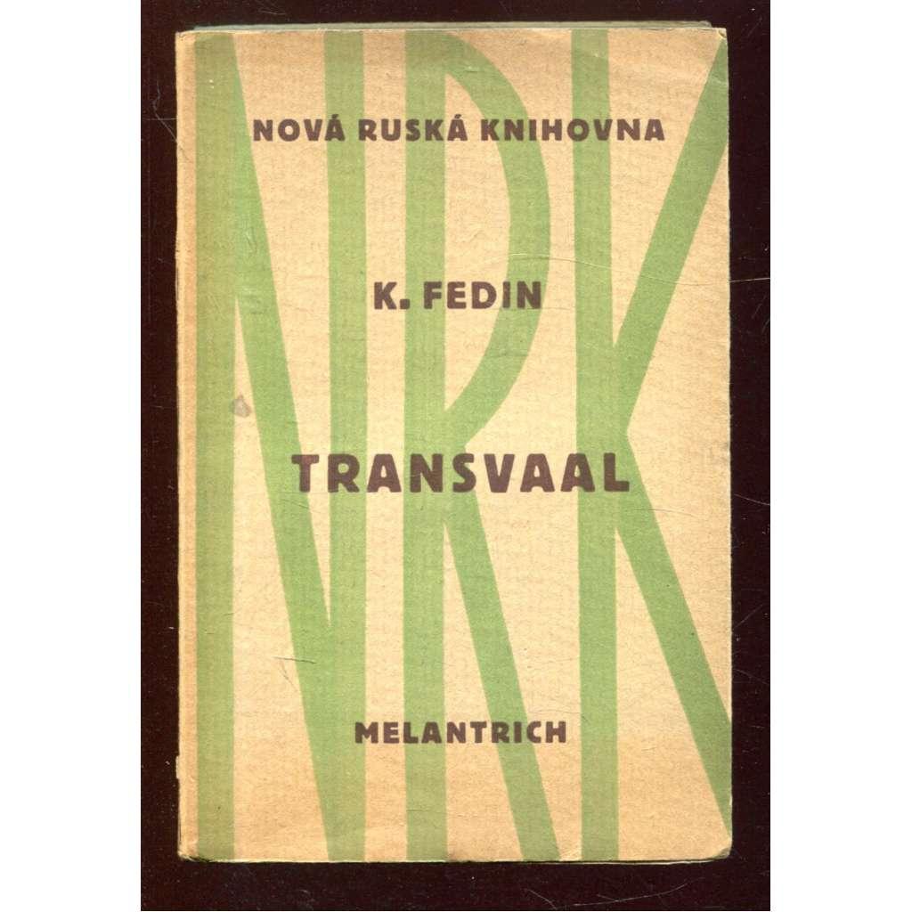 Transvaal - obálka Josef Čapek