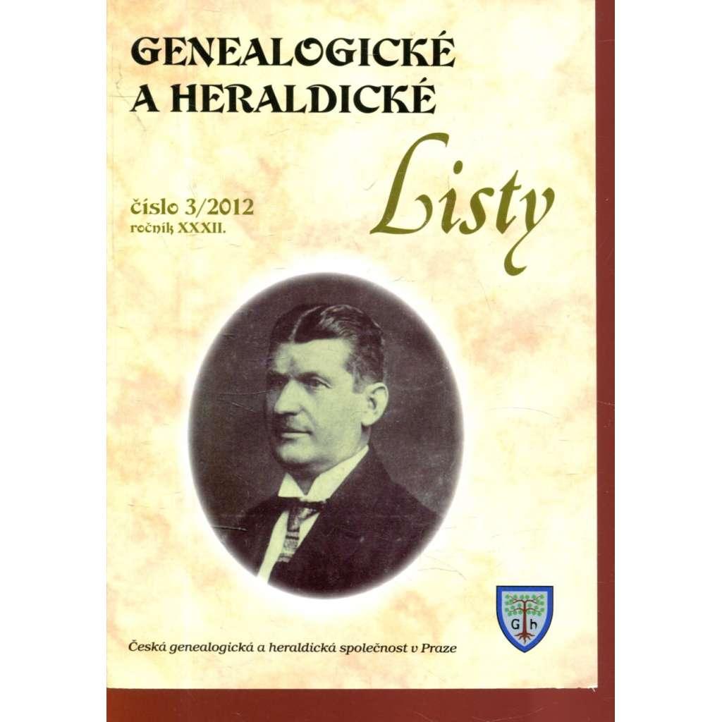 Genealogické a heraldické listy, ročník XXXII., č. 3/2012