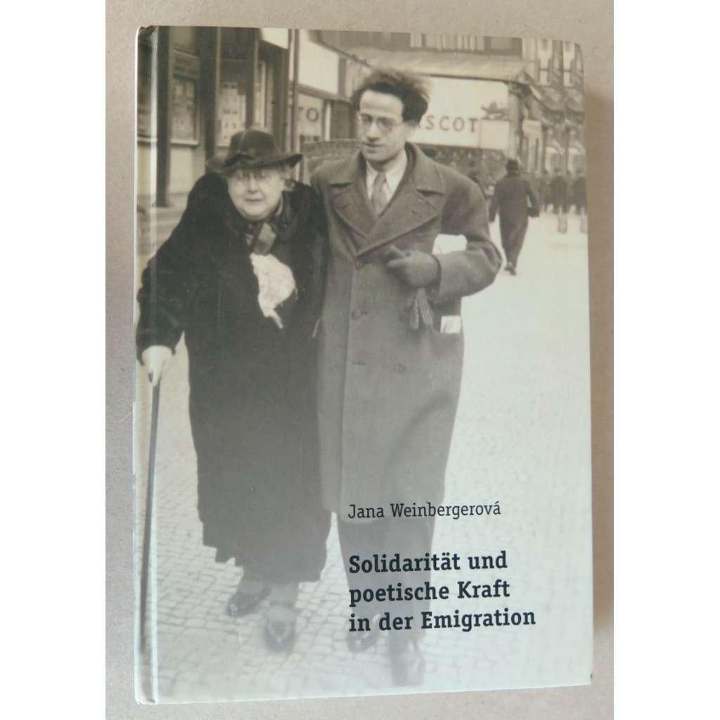 Solidarität und poetische Kraft in der Emigration. Fritz Walter Nielsen als Vermittler der tschechischen Kultur