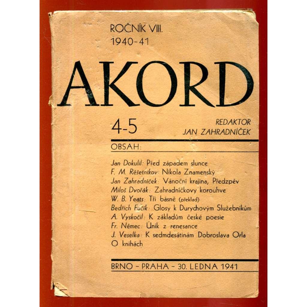 Akord, č. 4/5, r. VIII. (1940 - 41)