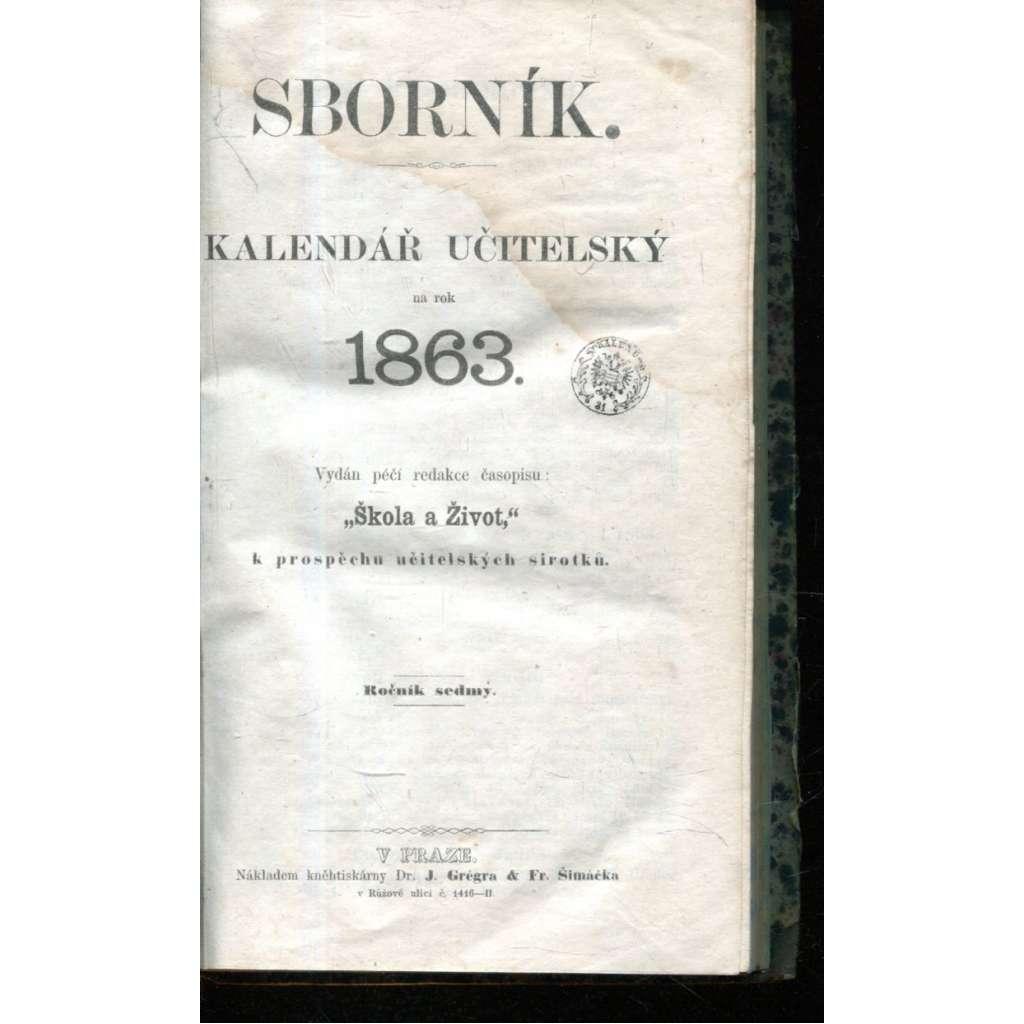Sborník. Kalendář učitelský na rok 1863