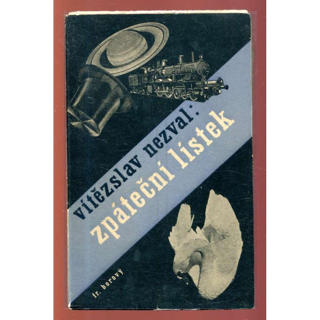 Zpáteční lístek (obálka Karel Teige)