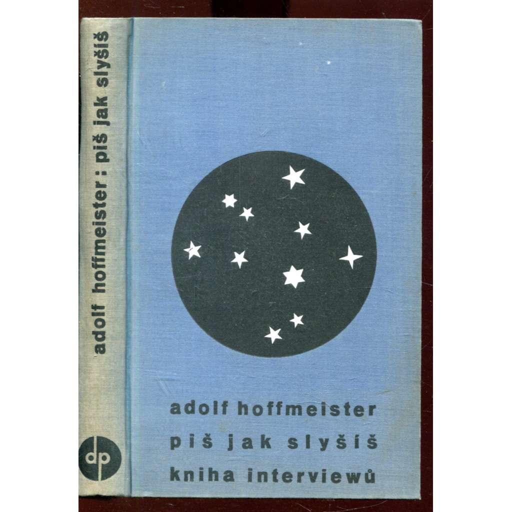 Piš jak slyšíš (obálka Adolf Hoffmeister)