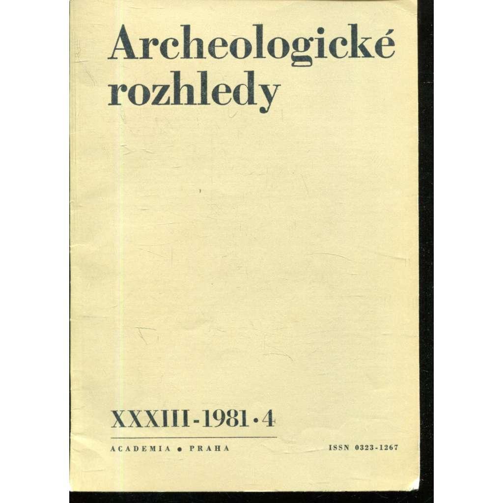 Archeologické rozhledy XXXIII - 1981, č. 4.